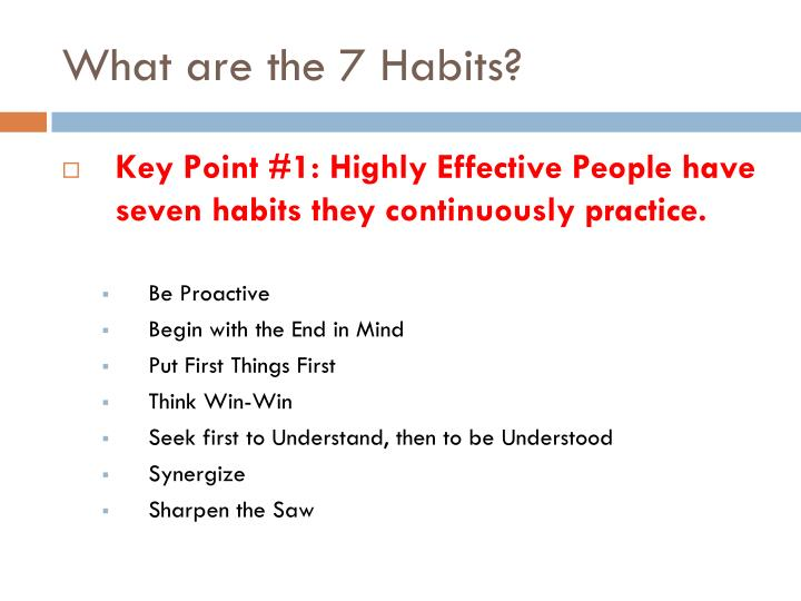 What are the 7 Habits?