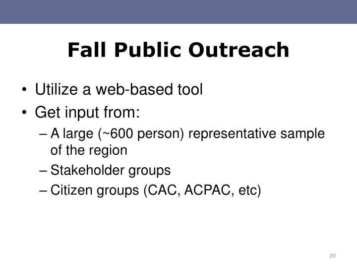 Fall Public Outreach