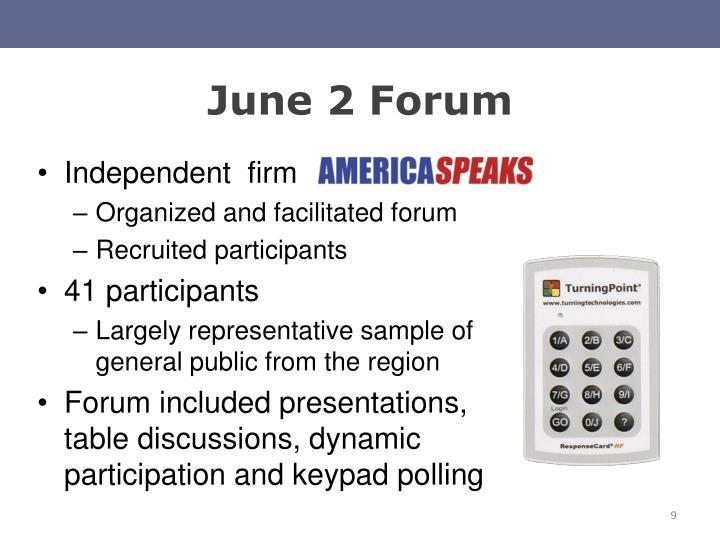 June 2 Forum