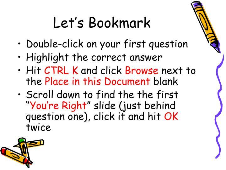 Let's Bookmark