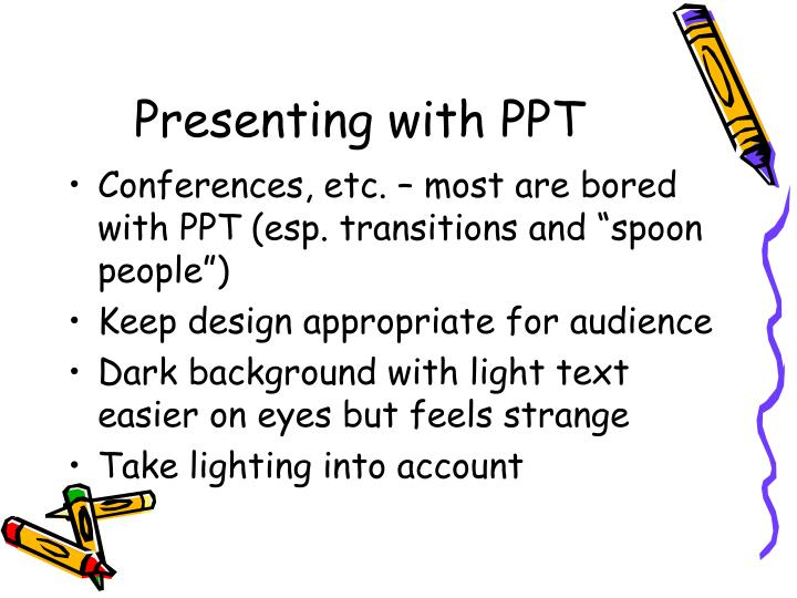 Presenting with PPT
