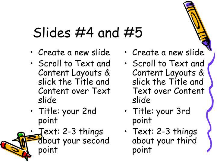 Create a new slide