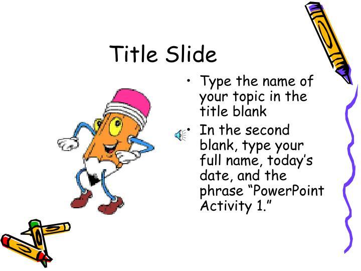 Title Slide