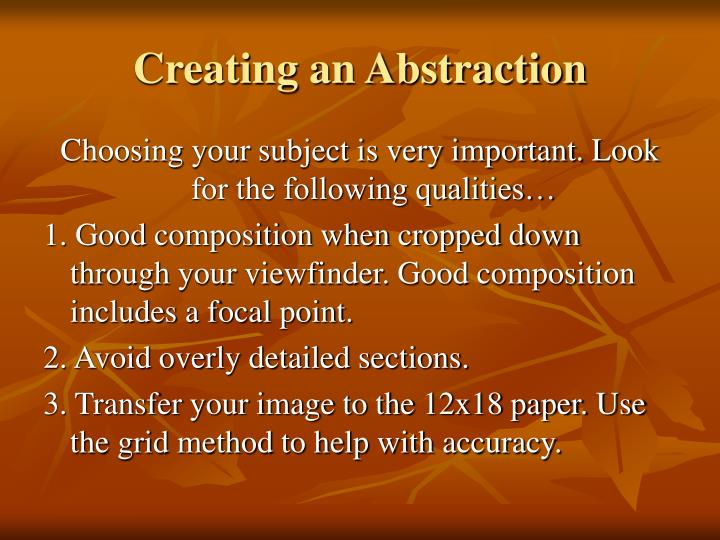 Creating an Abstraction
