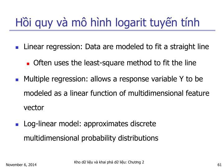 Hồi quy và mô hình logarit tuyến tính