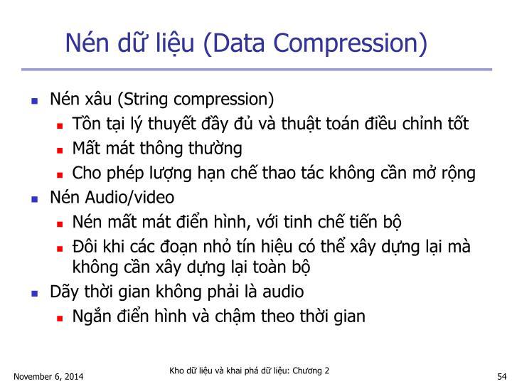 Nén dữ liệu (Data Compression)