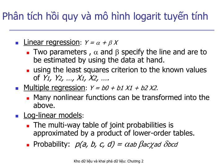 Phân tích hồi quy và mô hình logarit tuyến tính