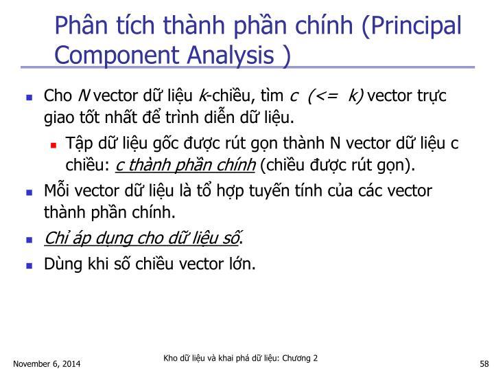 Phân tích thành phần chính (Principal Component Analysis )