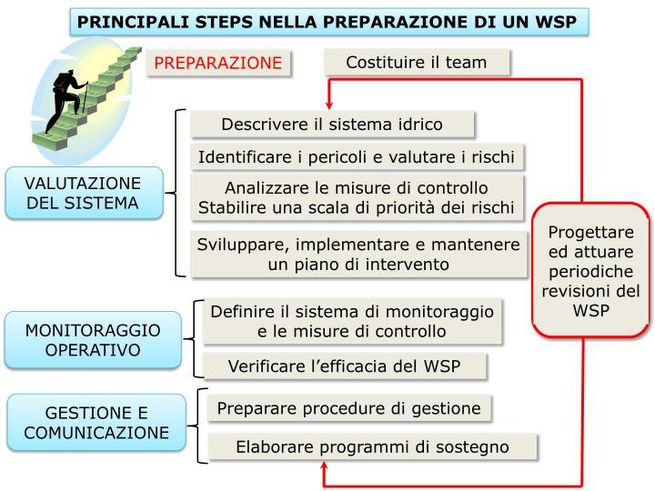 PRINCIPALI STEPS NELLA PREPARAZIONE