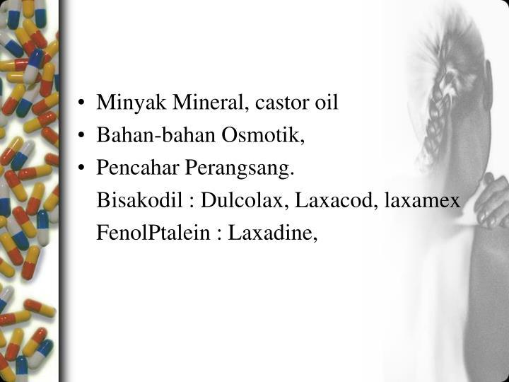 Minyak Mineral, castor oil