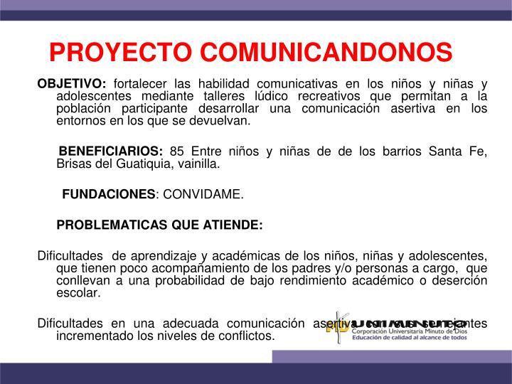 PROYECTO COMUNICANDONOS