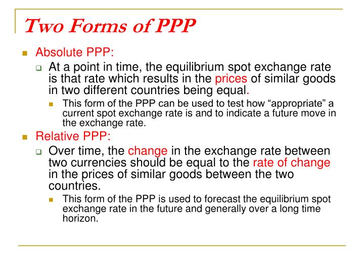 Two Forms of PPP