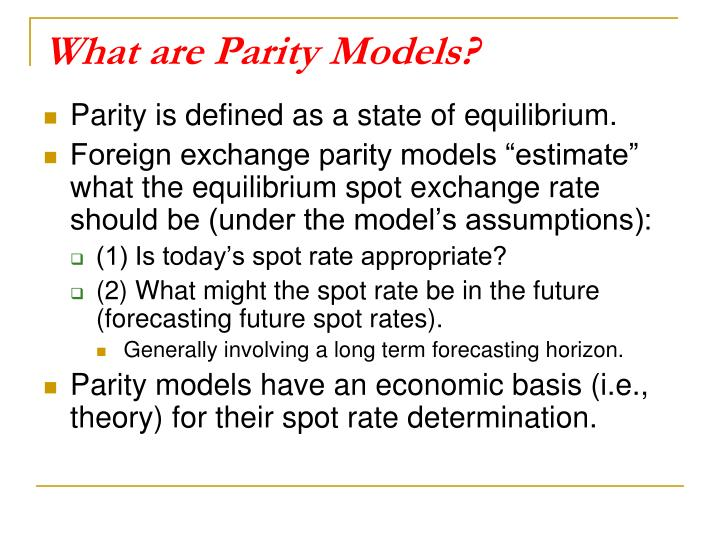 What are Parity Models?