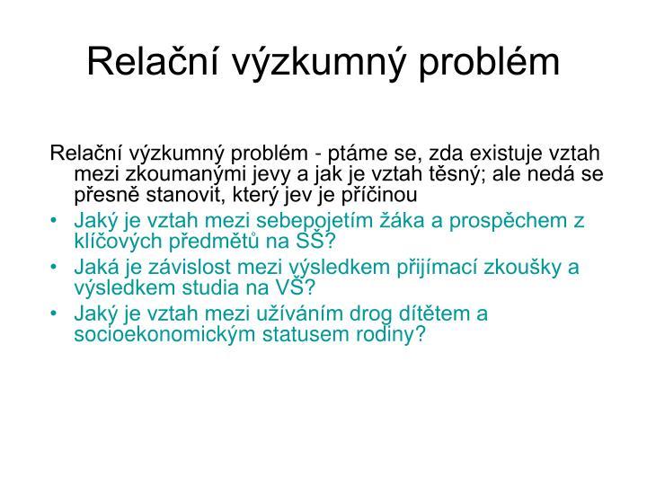 Relační výzkumný problém
