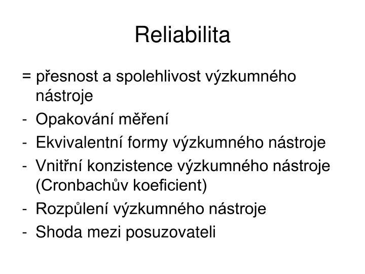Reliabilita