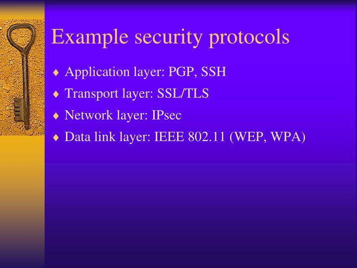 Example security protocols