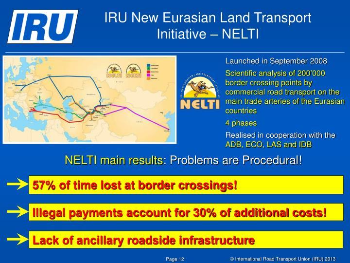 IRU New Eurasian Land Transport Initiative – NELTI