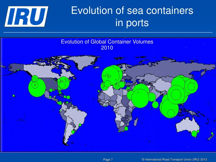 Evolution of sea containers