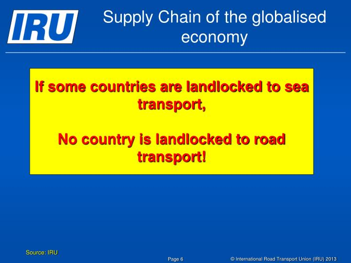Supply Chain of the globalised economy