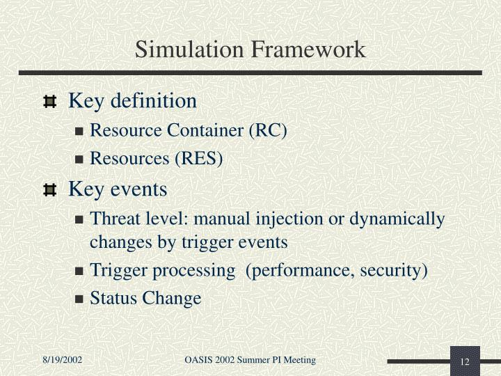 Simulation Framework