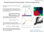 testing the general binding energy fitness correspondence