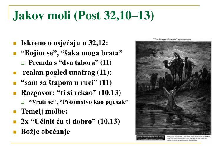 Jakov moli (Post 32,10–13)