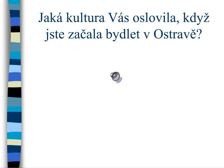 Jaká kultura Vás oslovila, když jste začala bydlet v Ostravě?