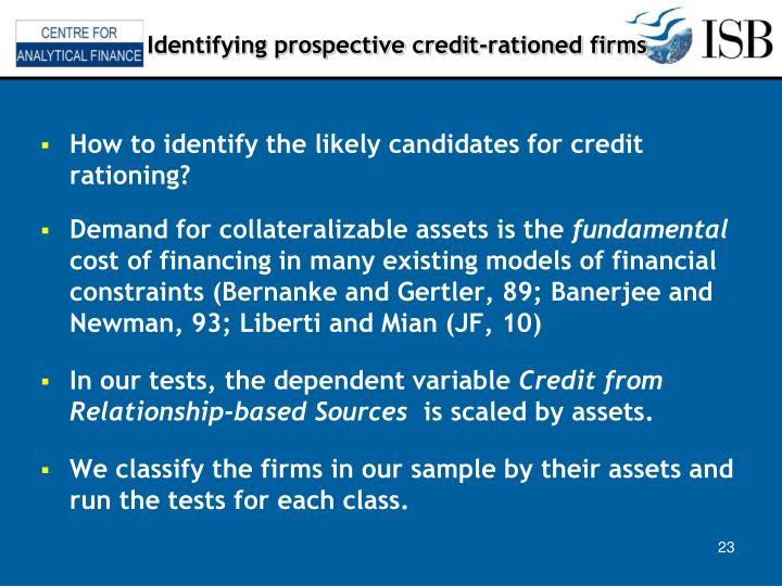 Identifying prospective credit-rationed firms
