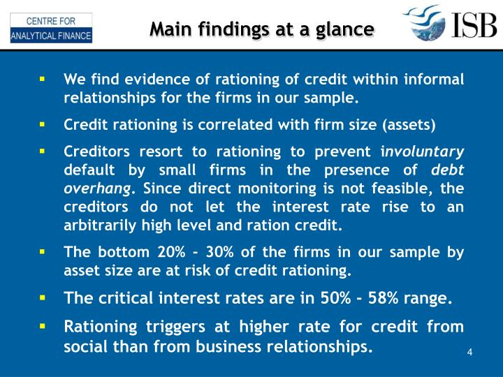 Main findings at a glance