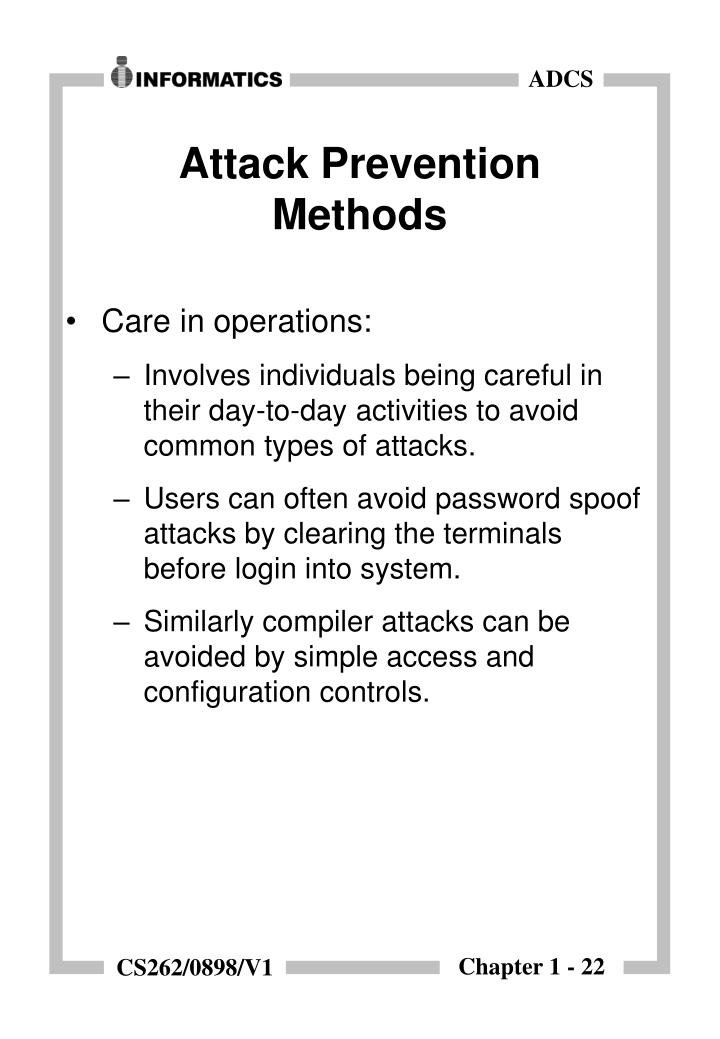 Attack Prevention