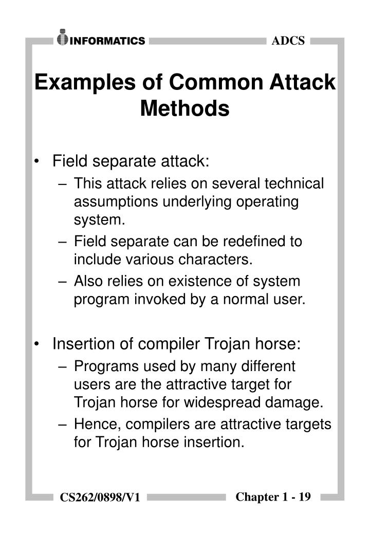 Examples of Common Attack Methods