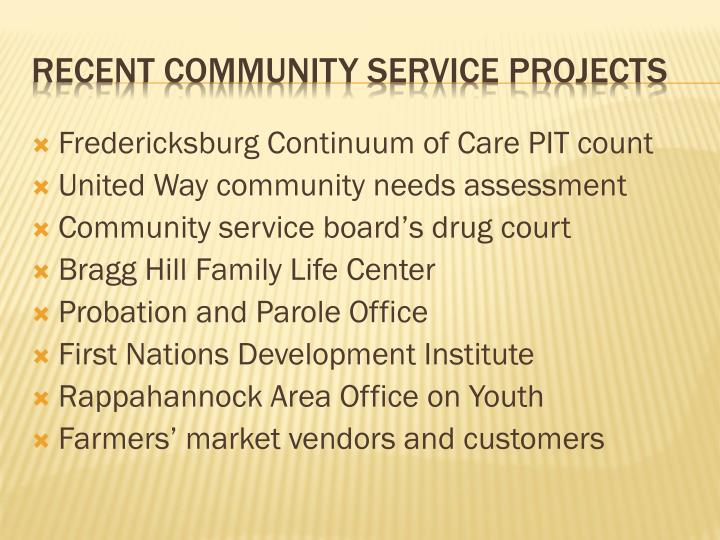 Fredericksburg Continuum of Care PIT count