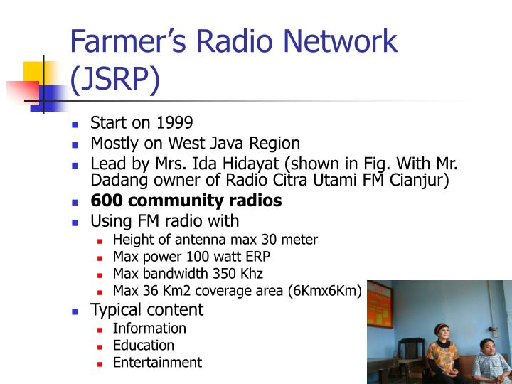 Farmer's Radio Network (JSRP)