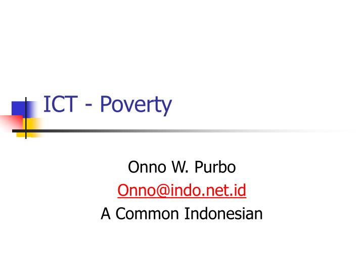 Ict poverty