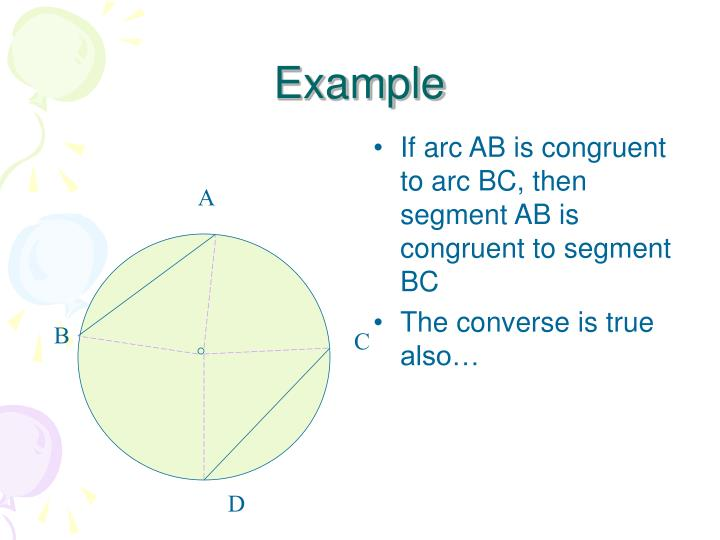 If arc AB is congruent to arc BC, then segment AB is congruent to segment BC