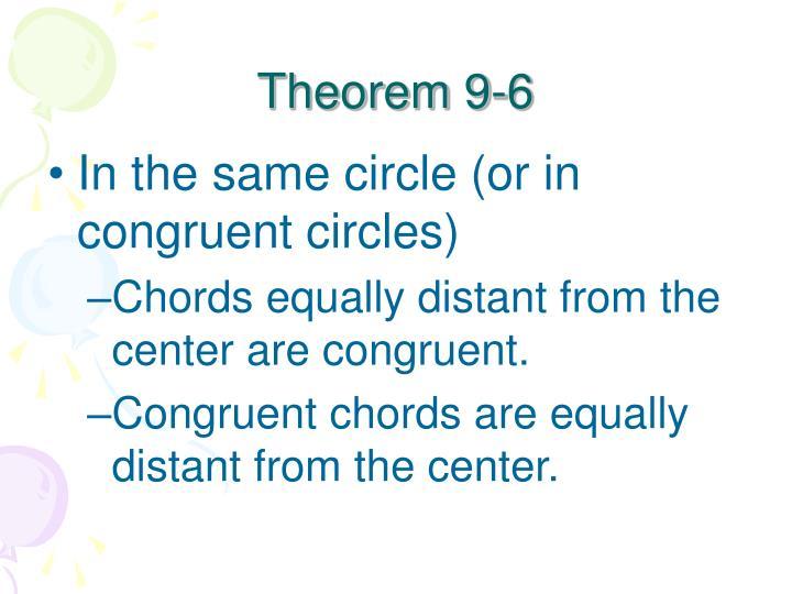 Theorem 9-6