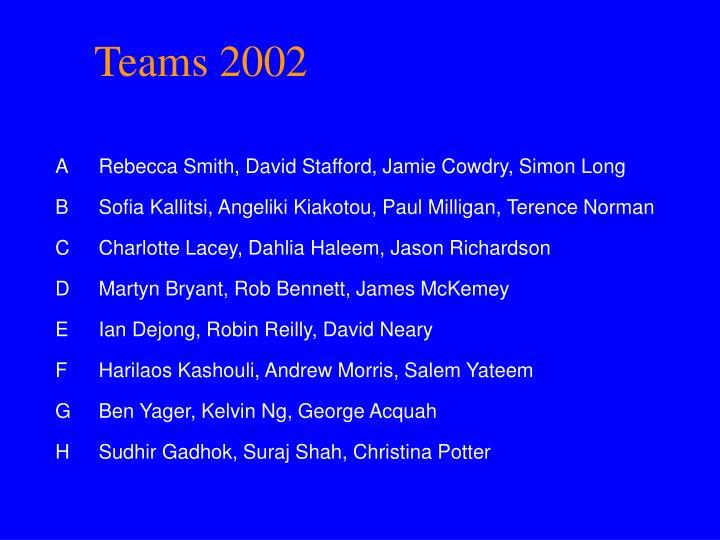 Teams 2002