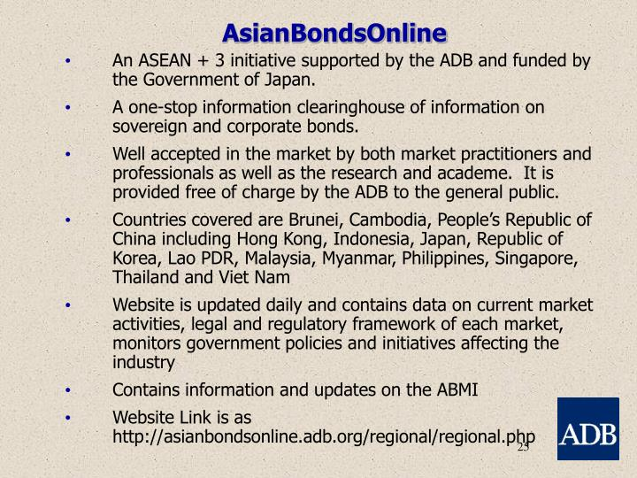 AsianBondsOnline