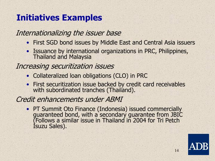 Initiatives Examples