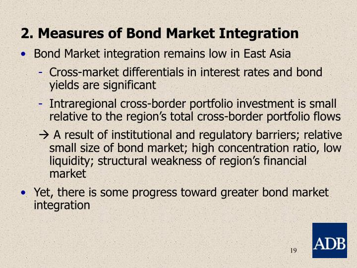 2. Measures of Bond Market Integration