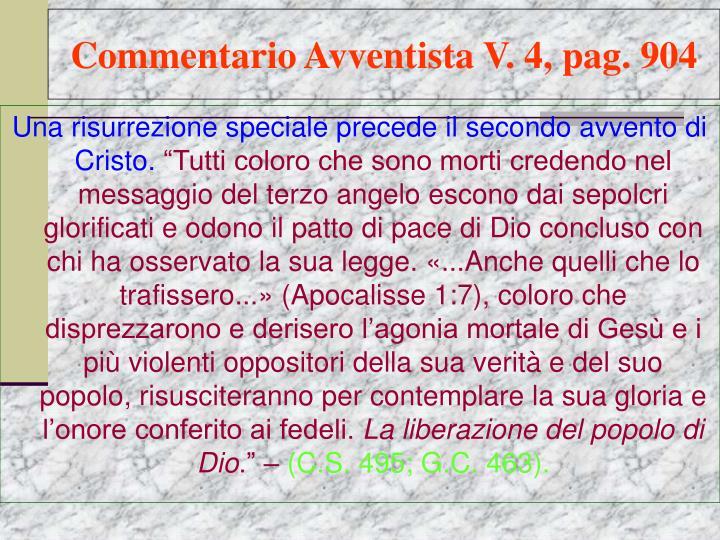Commentario Avventista V. 4, pag. 904