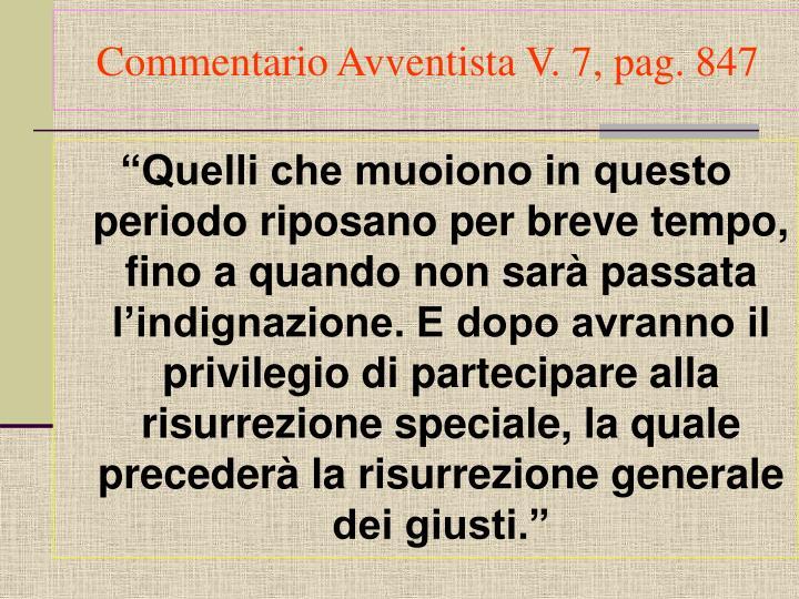 Commentario Avventista V. 7, pag. 847