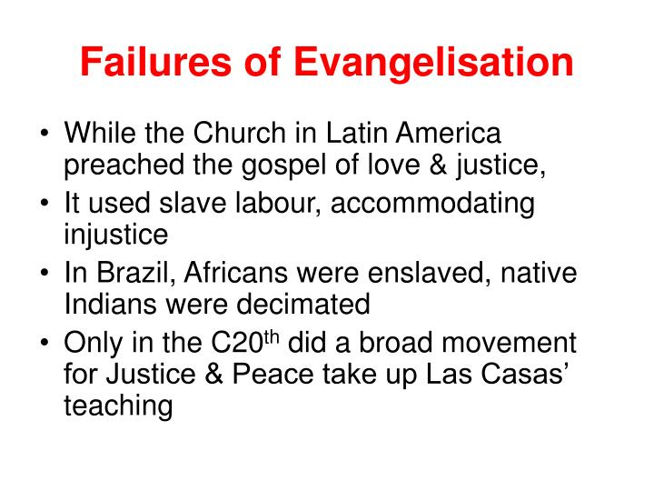 Failures of Evangelisation