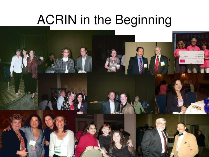 ACRIN in the Beginning
