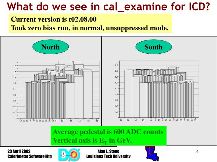 What do we see in cal_examine for ICD?