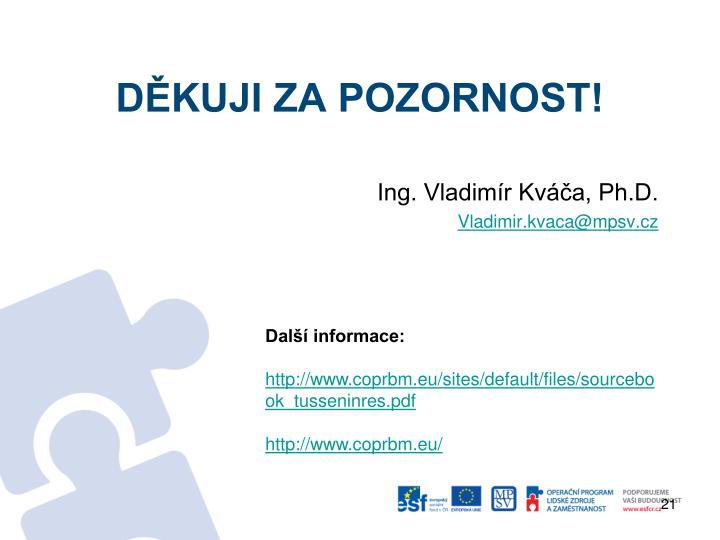 Ing. Vladimír Kváča, Ph.D.