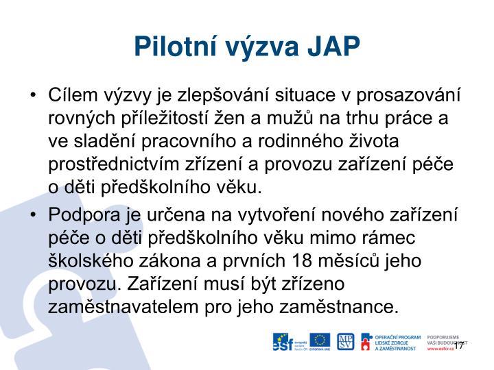 Pilotní výzva JAP