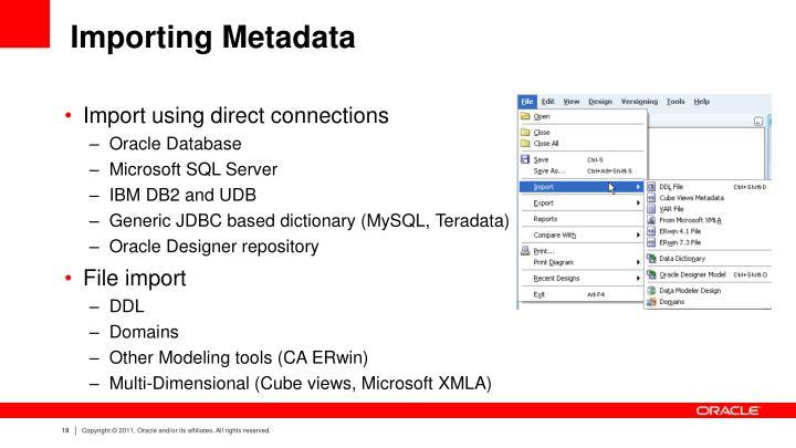 Importing Metadata