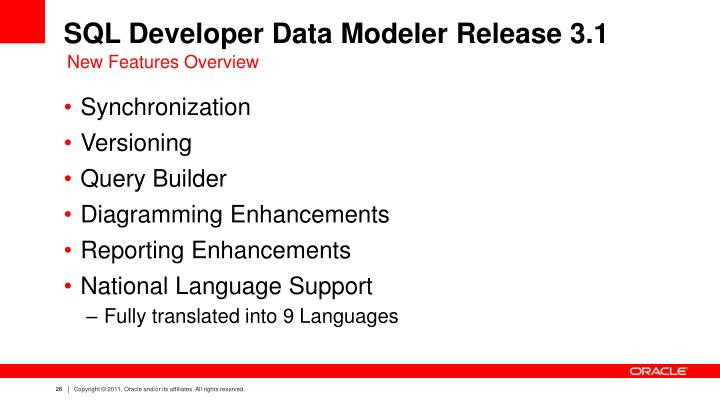 SQL Developer Data Modeler Release 3.1