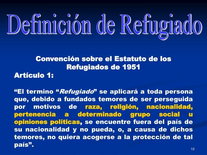 Definición de Refugiado